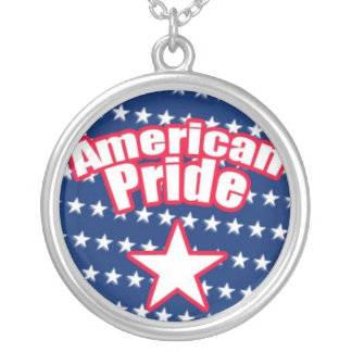 American Pride with Star Silver Plated Necklace
