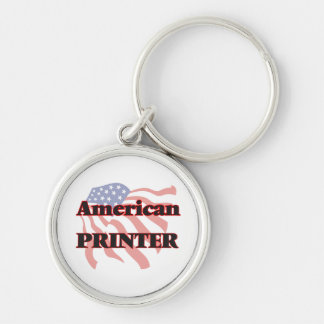 American Printer Silver-Colored Round Key Ring