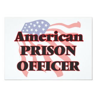 American Prison Officer 13 Cm X 18 Cm Invitation Card