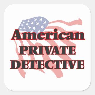 American Private Detective Square Sticker