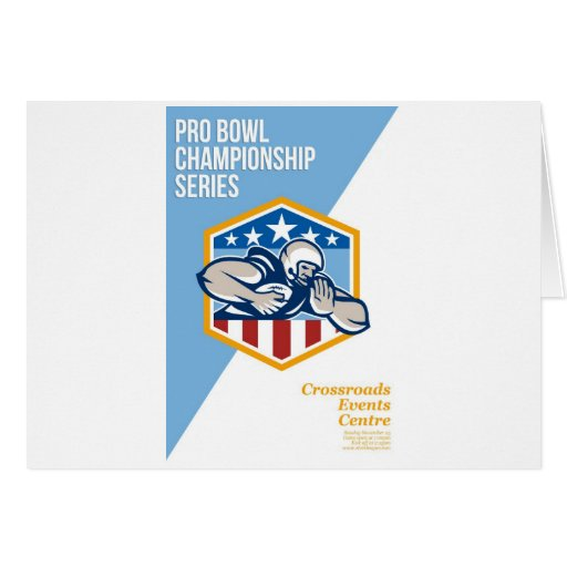 American Pro Football Championship Poster Greeting Cards