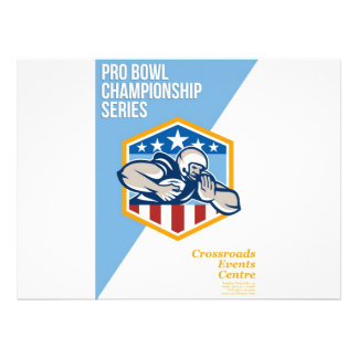 American Pro Football Championship Poster Personalised Invites