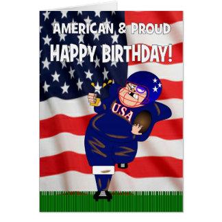 American & Proud American Football Birthday Card