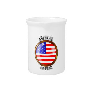 American Proud Flag Button Pitcher
