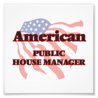 American Public House Manager Photographic Print
