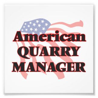 American Quarry Manager Photographic Print
