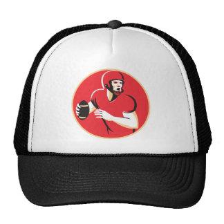 american quarterback football player passing hats