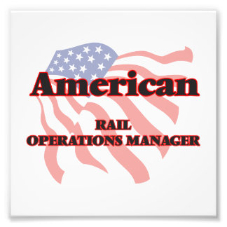 American Rail Operations Manager Photo Art