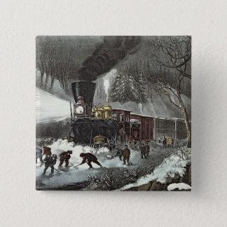 American Railroad Scene, 1871 15 Cm Square Badge