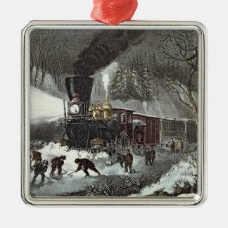 American Railroad Scene, 1871 Christmas Ornament