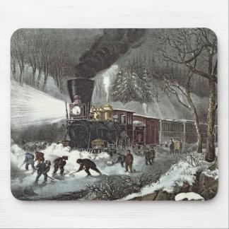 American Railroad Scene, 1871 Mouse Pad