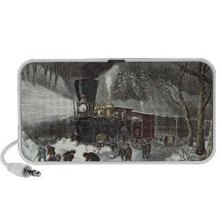 American Railroad Scene, 1871 Notebook Speaker