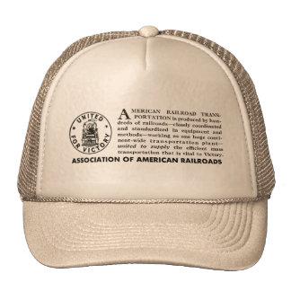 American Railroads United For Victory Cap