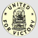 American Railroads United For Victory Round Stickers