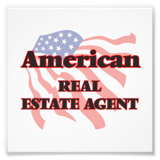 American Real Estate Agent Art Photo