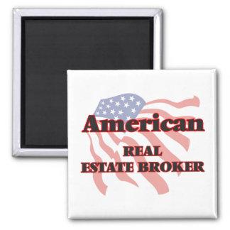 American Real Estate Broker Square Magnet