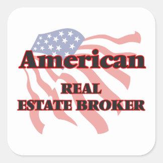 American Real Estate Broker Square Sticker