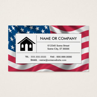 american real estate business card