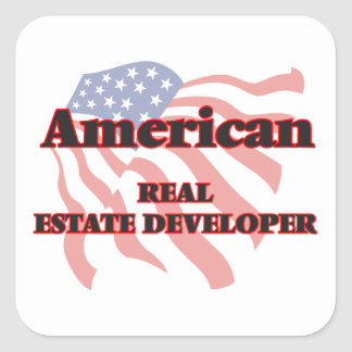 American Real Estate Developer Square Sticker