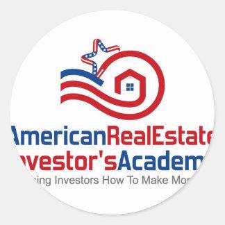 American Real Estate Investors Academy Logo Gear Round Sticker