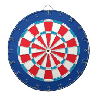 American Red White And Blue Dartboard