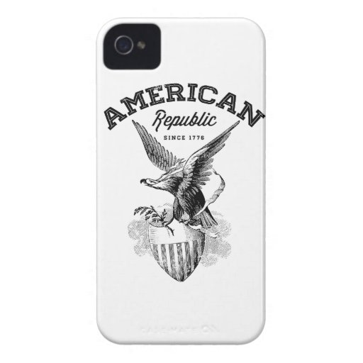 American Republic Eagle and Shield iPhone 4 Case-Mate Case