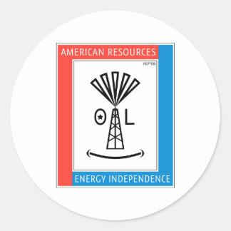 American Resources Round Sticker