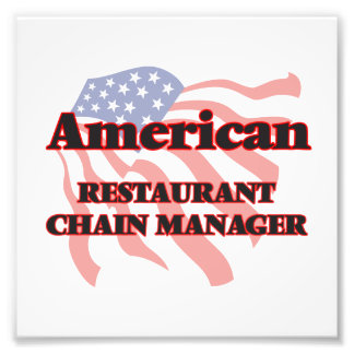 American Restaurant Chain Manager Photo Print