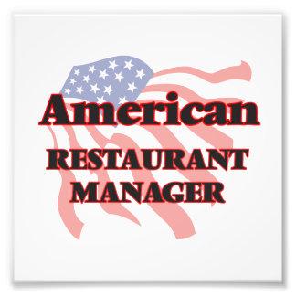 American Restaurant Manager Art Photo
