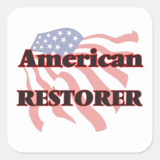 American Restorer Square Sticker