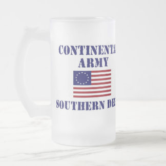 American Revolution Continental Army Frosted Glass Mug
