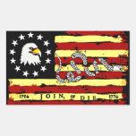 American Revolutionary Flag! Rectangular Sticker