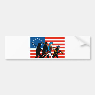 american revolutionary soldier patriot bumper sticker