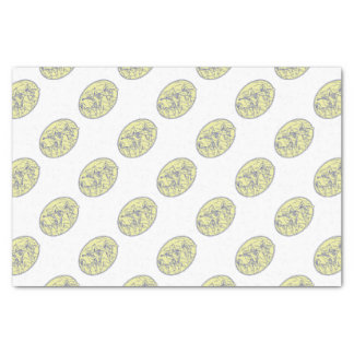 American Revolutionary Soldiers Marching Oval Mono Tissue Paper