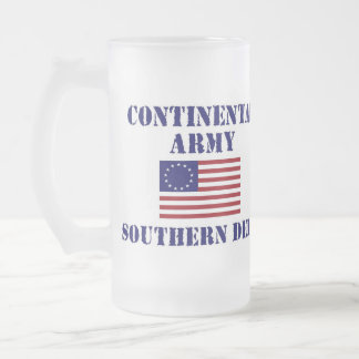American Revolutionary War Continental Army Glass Frosted Glass Beer Mug