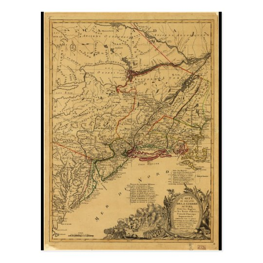 American Revolutionary War Map by J.B Eliot (1781)