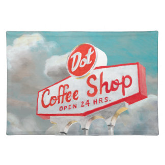 American Roadside | Coffee Shop Sign Placemat