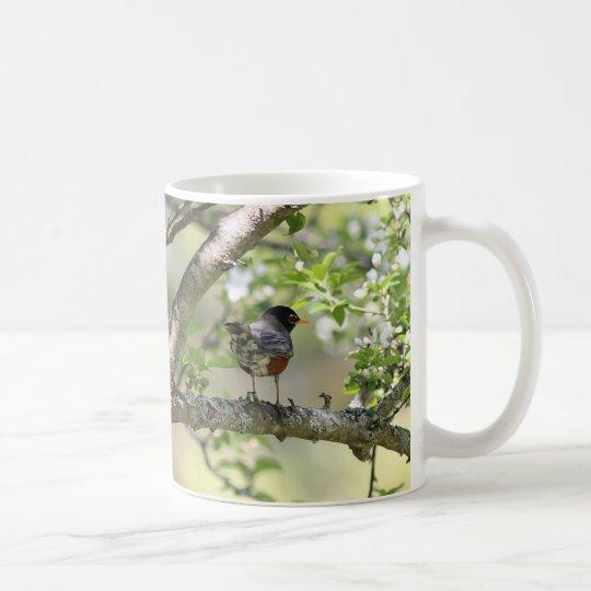 American Robin and Spring Blossoms Coffee Mug