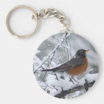 American Robin Bird Keychain
