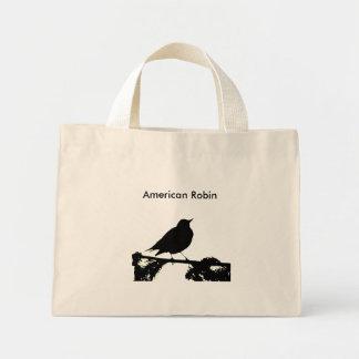 American Robin Silhouette  Bag