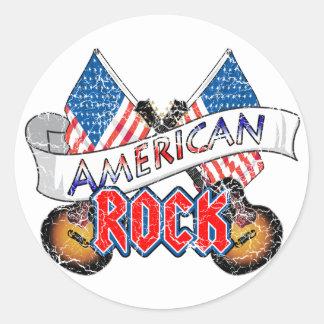 American Rock Round Sticker