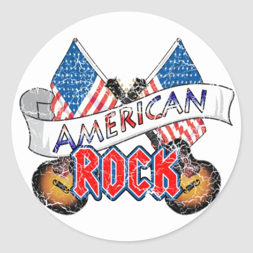 American Rock Round Stickers