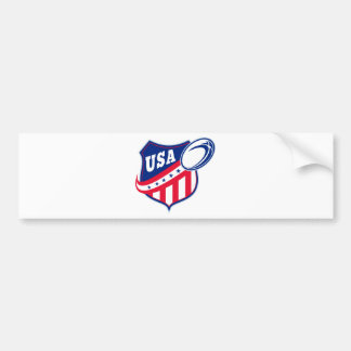 american rugby ball shield usa bumper stickers