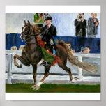 American Saddlebred Horse Portrait Poster