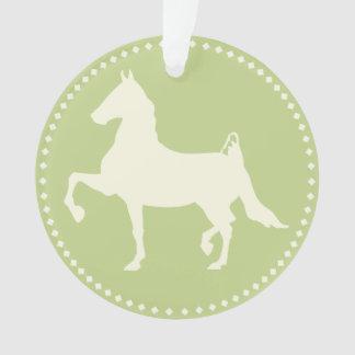 American Saddlebred Horse Silhouette Ornament
