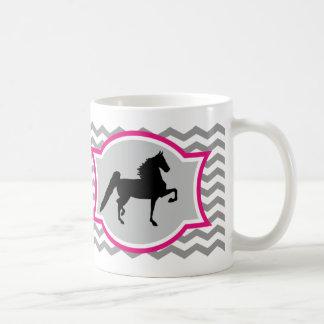 American Saddlebred Mug - Grey and Pink