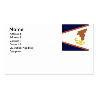 AMERICAN SAMOA BUSINESS CARDS