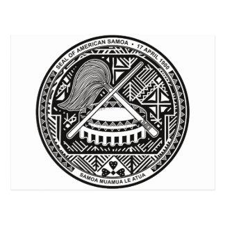 American Samoa Coat of arm AS Postcard