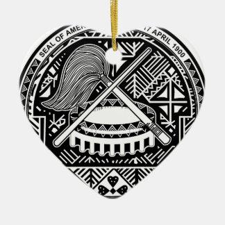 American Samoa Coat of Arms Christmas Ornament