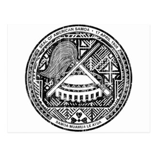American Samoa Coat Of Arms Postcard